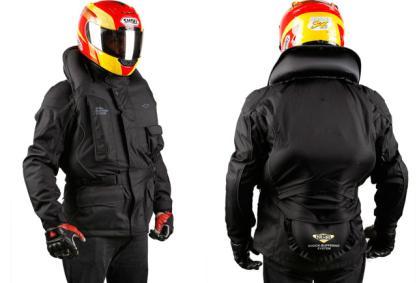 giubbotto airbag per motociclisti